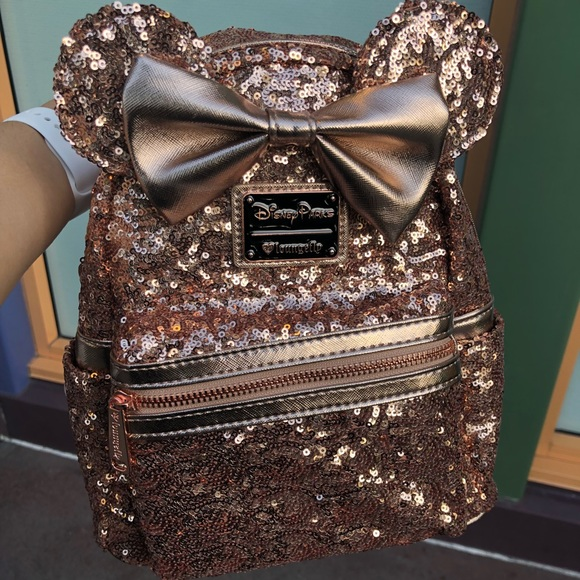 Disney Bags   Land Limited Edition Rose Gold Backpack   Poshmark 53a6edf346